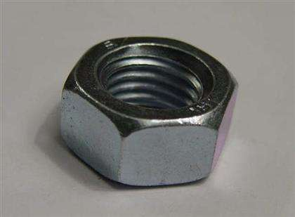 Large Diameter Steel Hex Nuts , Iron Oxide Hex Screw Nut Chinese Standard White