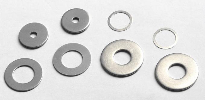 8.8 Grade Heavy Duty Flat Metal Washers High Strength Plain White Color Customized