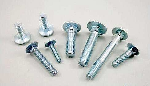 Extra Long Galvanized Carriage Bolts Carbon Steel Material GB / T12 - 85