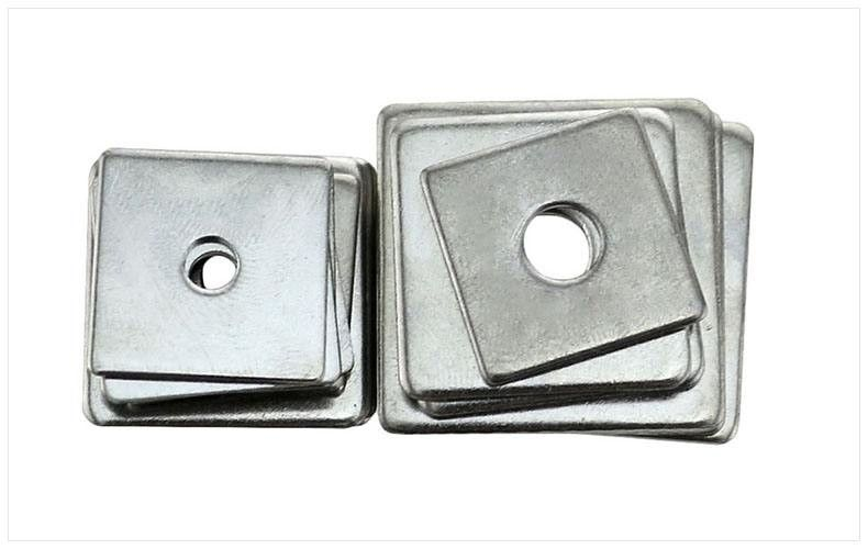4.8 Grade Iron Square Plate Washers Q235 Steel Material Reduce Friction DIN9021 DIN126  sc 1 st  Galvanized Hex Bolts u0026 Fully Threaded Hex Bolts & 4.8 Grade Iron Square Plate Washers Q235 Steel Material Reduce ...