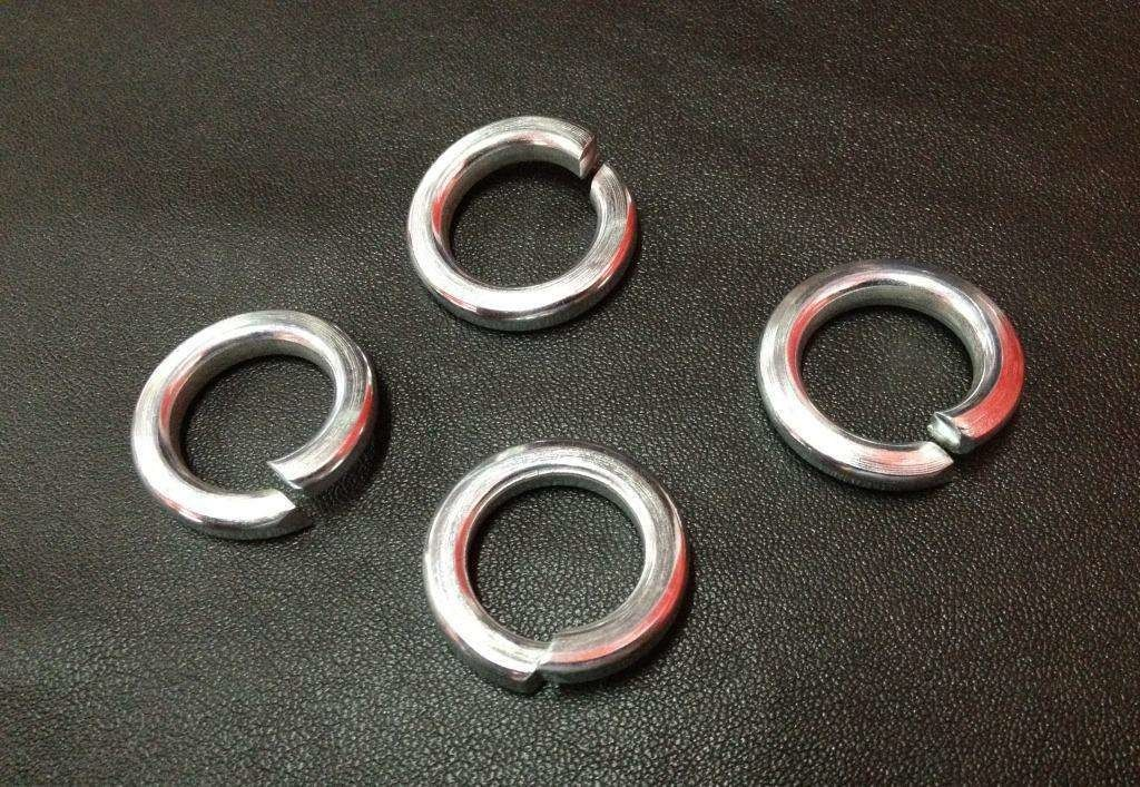 Ochoos 100pcs//lot DIN127 M2.5 Spring Washer A2 Stainless Steel