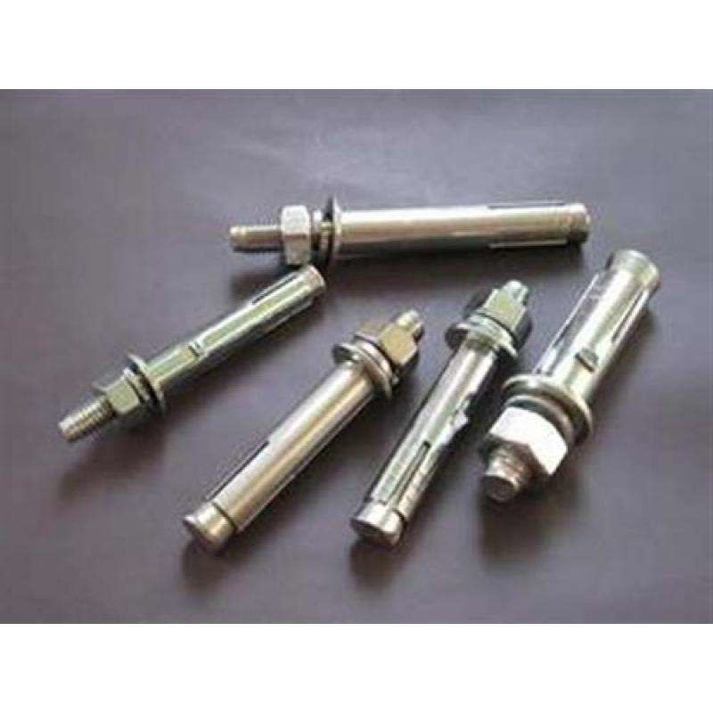 Galvanized Metal Anchor Bolts , Sleeve Wedge Anchors For Concrete Block