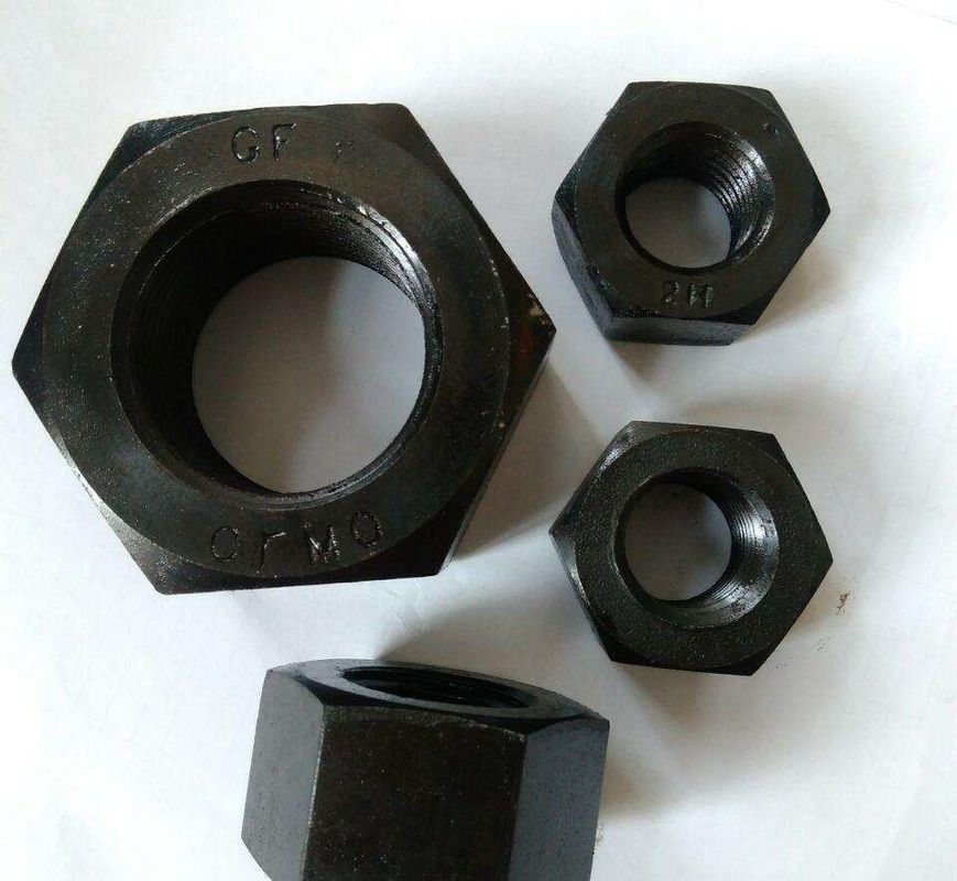 Mechanical Machine Galvanized Hex Nut M24 Size White Color High Strength