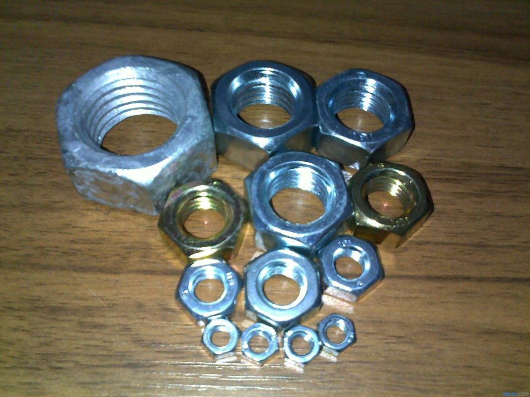 Customized Stainless Galvanized Hex Nut Plain Color M5 - M64 Excellent Corrosion Resistant
