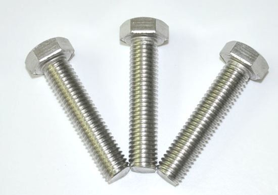 Anti Corrosion Carbon Fully Threaded Bolts , Hex Bolt Fastener Din 931 For Ships