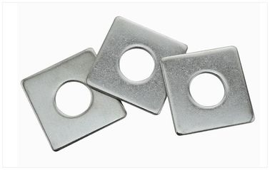 China DIN125 Metric Square Washer Plates , Curved Galvanized Plate Washers Iron Material distributor