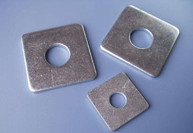 China Hot Dip Galvanized Square Plate Washers DIN126 Steel Flat Pad With Round Hole distributor