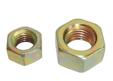 Yellow Zinc Plated Galvanized Hex Nut Metric Prevailing Torque Lock Nut M3 - M64