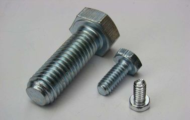 China Fine Thread Hex Head Tap Bolt ,  Structural Hex Head Fasteners Silver White Metal factory