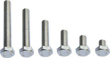 China Hexagon Head Stainless Steel Fine Thread Bolts Grade 4.8 Zinc Plated Surface Treatment factory