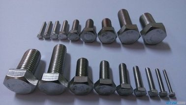 China Grade 4.8 Stainless Steel Hex Head Bolts , Full Thread Bolts DIN 961 M30 Size factory